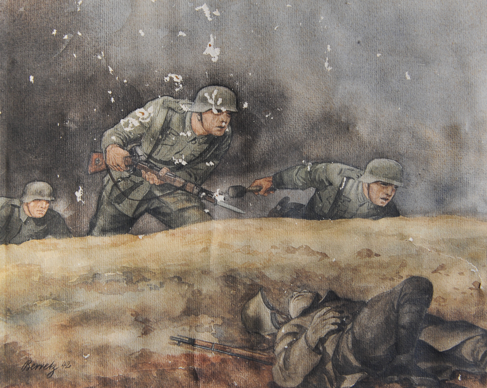 berretz watercolors german wwii art 10 the florence county museum
