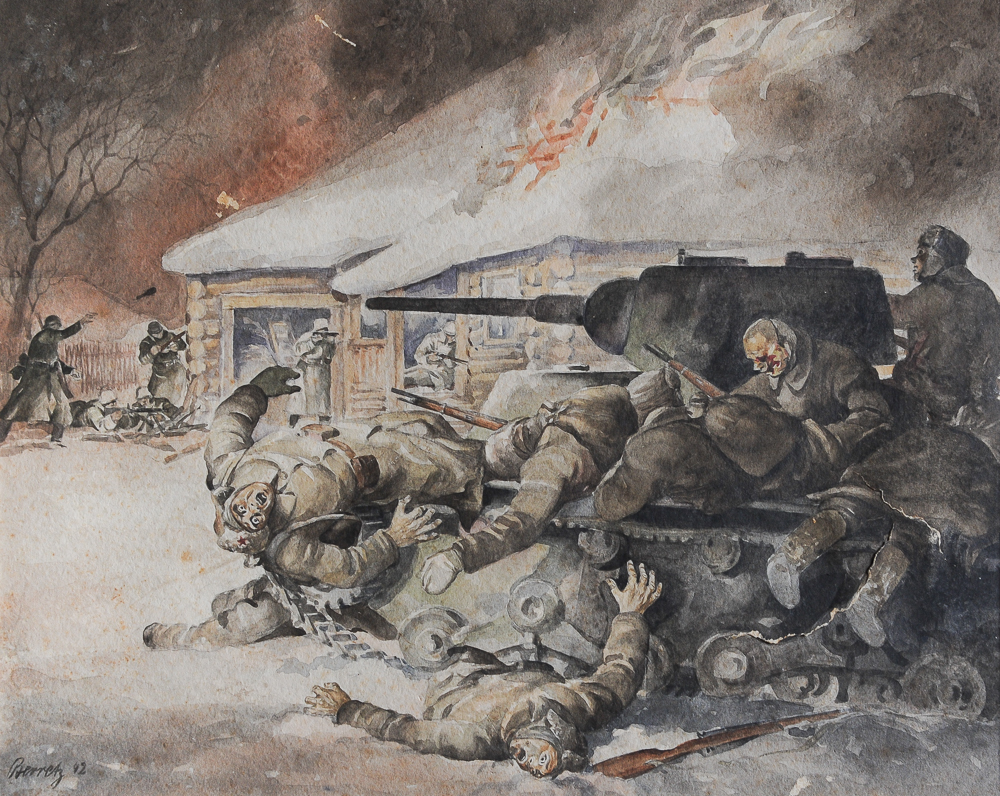 berretz watercolors german wwii art 7 the florence county museum