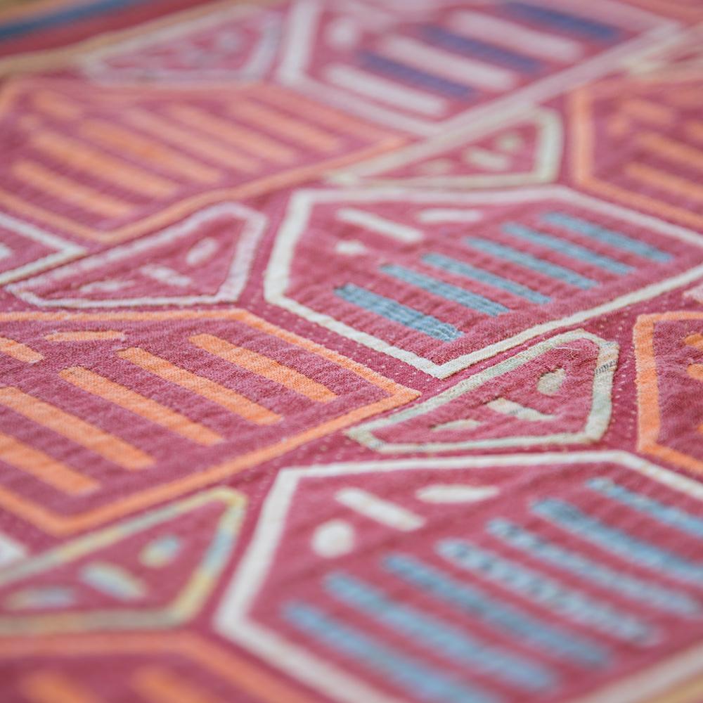 Mola, Hand-printed woven cotton fabrics, Kuna people, Kuna-Yala, Panama, early 20th century