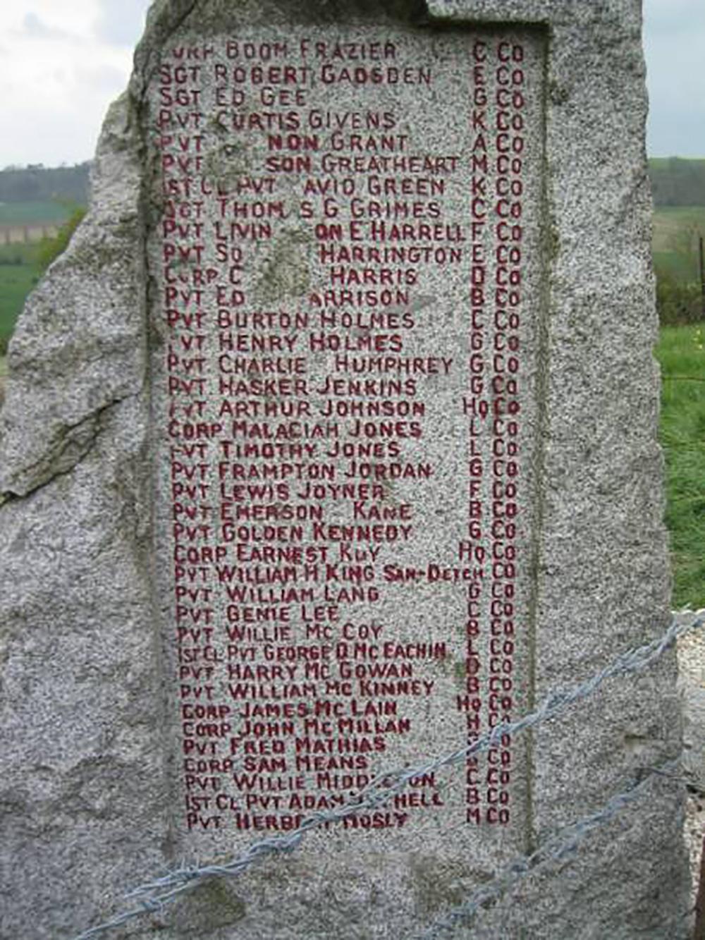 Battlefield monumnet near Ardeuil and Séchault, France